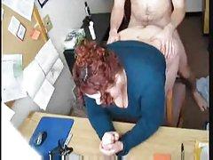 follar caliente #57 (Secretario de bbw pelirroja en la oficina)